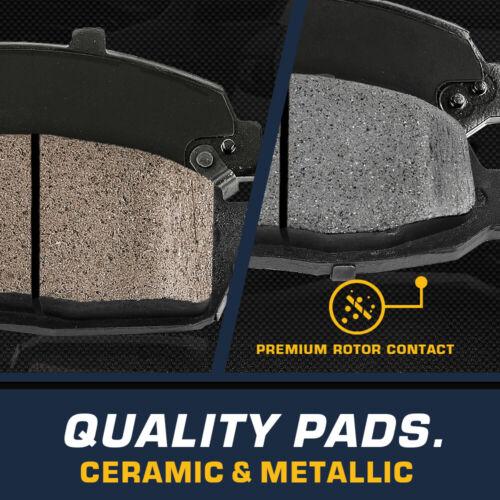 Front Rear Rotors /& Ceramic Pads For Hyundai Sonata Tucson Kia Optima Sportage