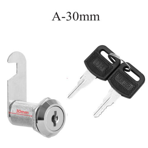 10//16//20//25mm Cam Lock for Door Cabinet Mailbox Cupboard with 2 Keys Hardware UK