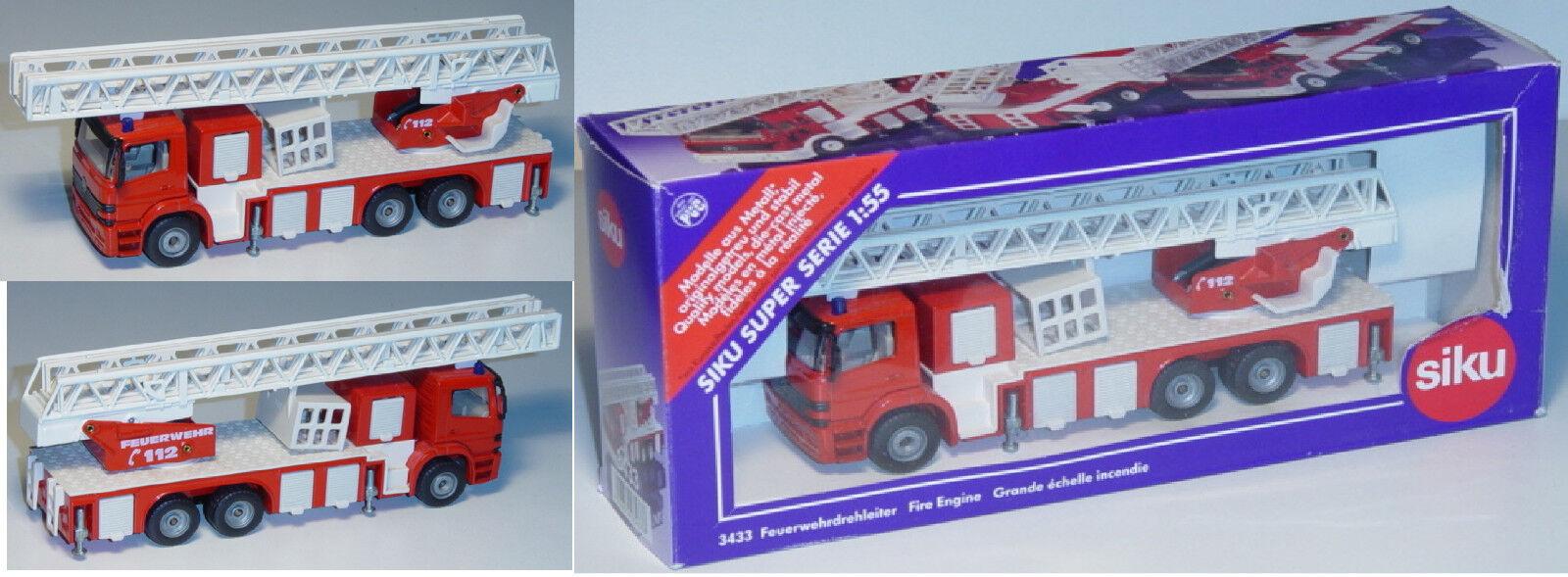 Siku Siku Siku Super 3433 Mercedes-Benz Atego Feuerwehrdrehleiter, ca. 1 55 266f2a