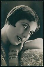 Pretty Edwardian Romantic Lady Glamour original vintage 1910s photo postcard 129