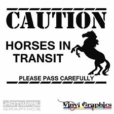 Vinyl Decal Sticker Pack - CAUTION HORSES IN TRANSIT - Equestrian Graphics