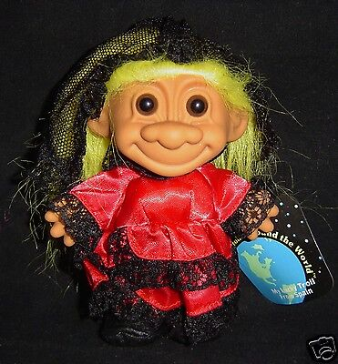 "AROUND THE WORLD  SPAIN NEW IN ORIGINAL WRAPPER 5/"" Russ Troll Doll"