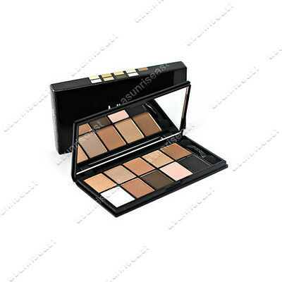New 10  Color Eyeshadow Cosmetic Makeup Palette & Brush Mirror Set