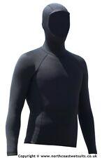 1.5 mm hooded long sleeve rash vest 90% neoprene 10% thermal mix (Sz MED V.WARM)