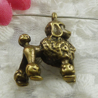 Free Ship 48 pieces bronze plated dog charms 22x18mm #605
