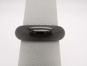 Wide 58MM Hematite Wedding Band Thumb Ring Fashion Band RingSize 6