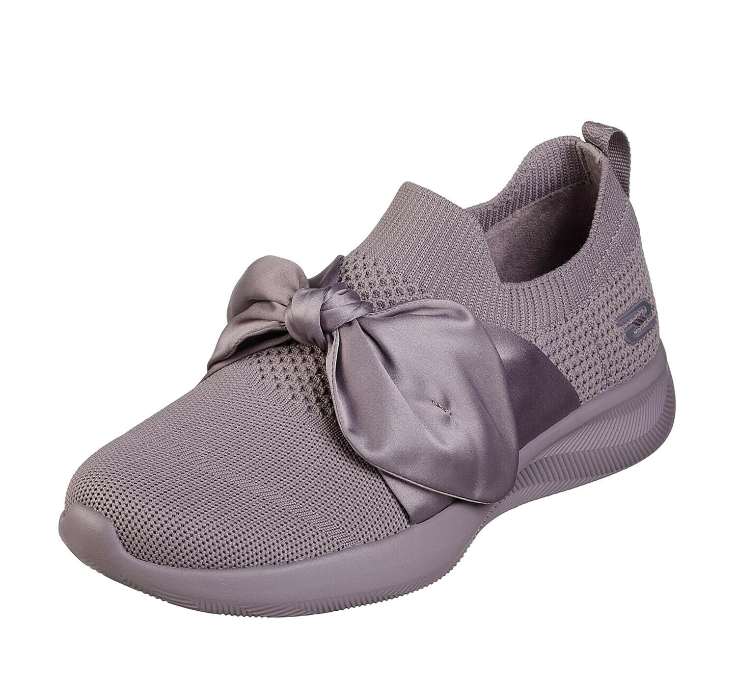 Skechers NEW Bobs Sport Squad 2 Bow Beauty mauve memory foam trainers Größes 3-8