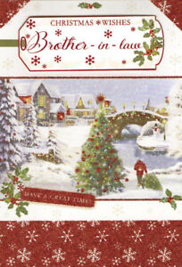 Merry Christmas Brother.Details About Traditional Brother In Law Happy Christmas Wishes Card 2 X Cards To Choose From