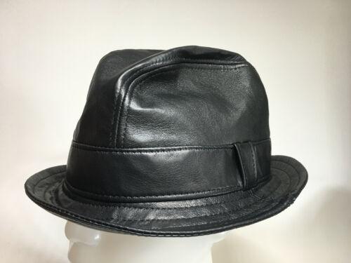 JIll Corbett fedora snatch hat black nappa Hand made UK XS//S//M//L//XL//XXL