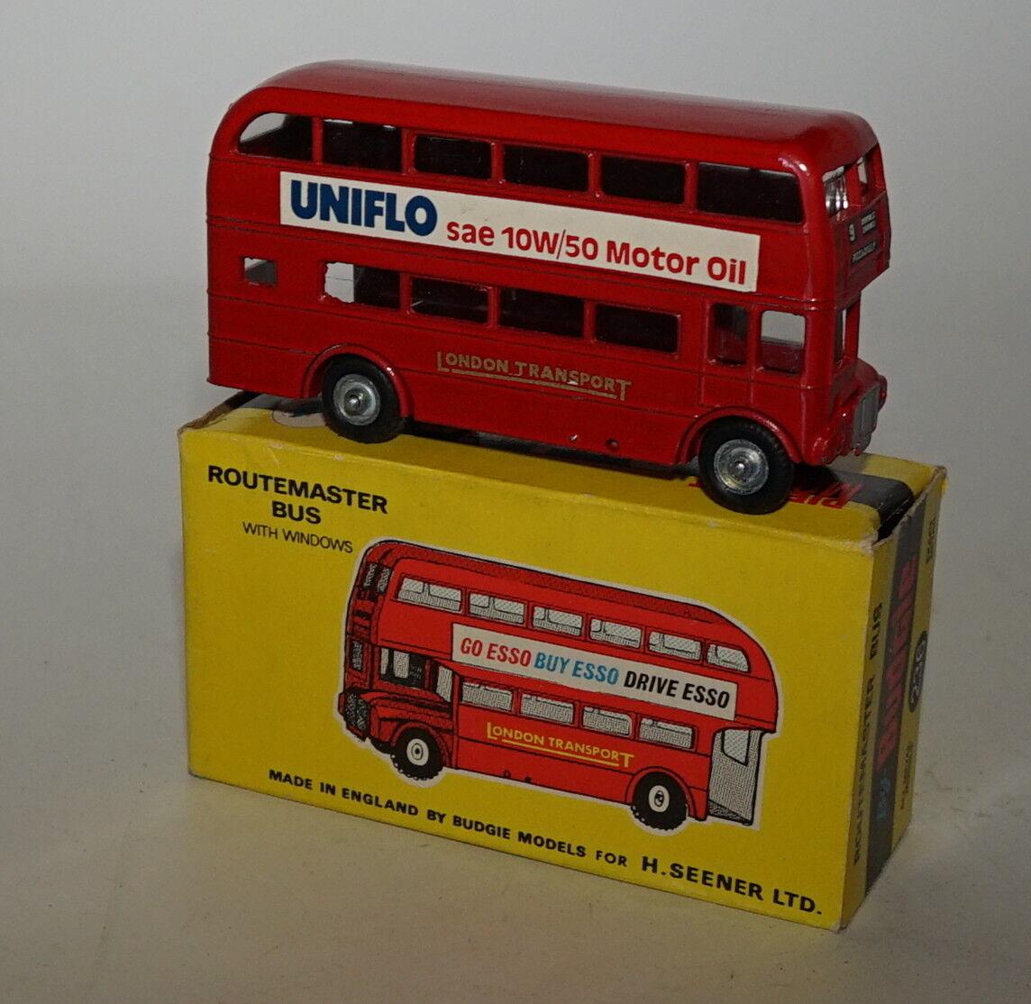 Budgie Toys 236 Londres Bus Routemaster Uniflow SAE 10/50 10/50 10/50 Moteur Huile NM/Ex 28d7e3