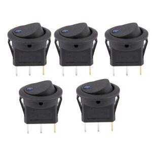 2X-4x-LED-Point-Lampe-Interrupteur-a-Bascule-DC-12V-Voiture-Auto-Bateau-ON-OF-GH