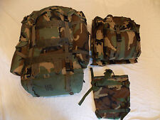 USGI - Woodland Camo Rucksack with Internal Frame, Patrol Pack & Radio Pouch