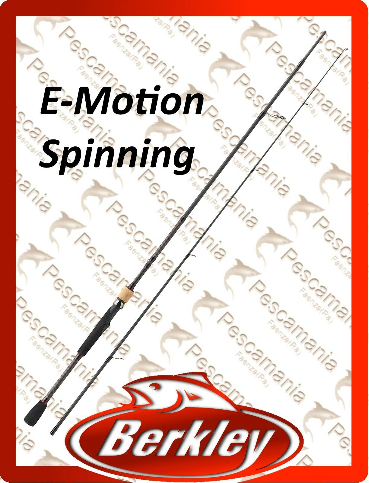 Spinning Rod Berkley E-Motion Bass Trout Pike 6' -7'-8' -9'
