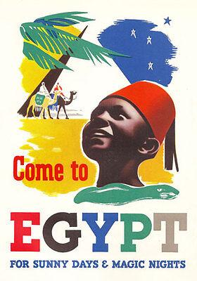 TU14 Vintage Egypt Winter Sunshine Travel Tourism Poster Re-Print A4
