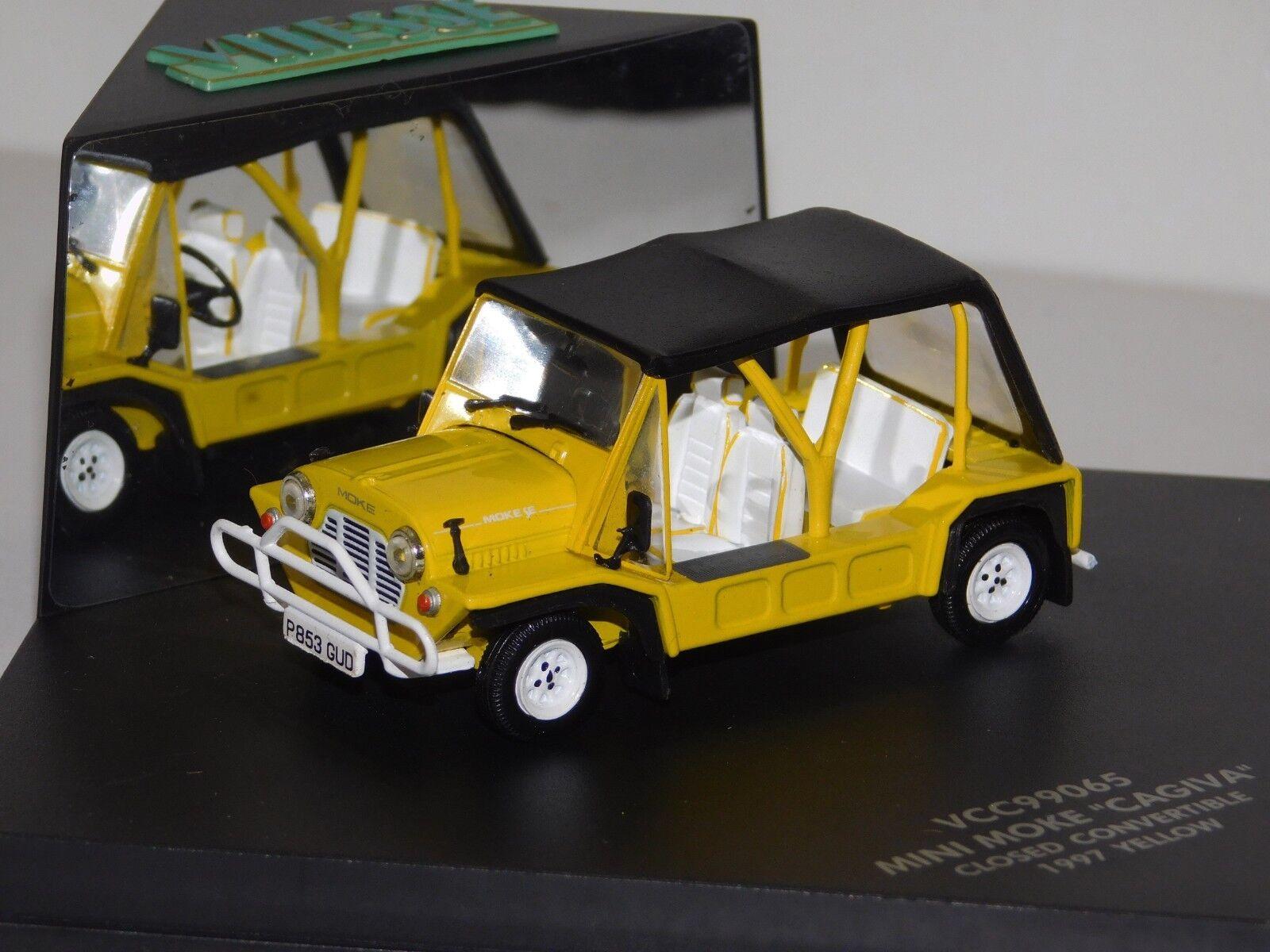 disfruta ahorrando 30-50% de descuento Mini Mini Mini Moke CAGIVA Cerrado Converdeible Amarillo 1997 controlador Vitesse VCC99065 1 43  Las ventas en línea ahorran un 70%.