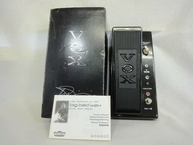 Vox JS-WAH Big Bad Wah Joe Satriani Guitar Effect Pedal from JAPAN F S Used