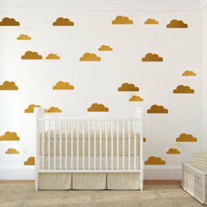 4 Colors Diy Little Cloud Wall Stickers Home Vinyl Decal