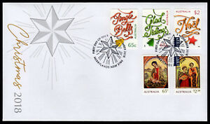 2018-Christmas-Self-Adhesive-S-A-Unissued-FDC-First-Day-Cover-Stamps-Australia