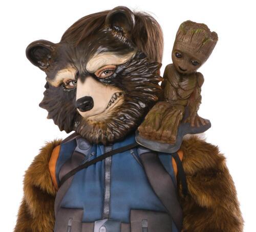 Guardians of the Galaxy Groot hombro-personaje con cinturón de seguridad, disfraz revestimiento Rocket