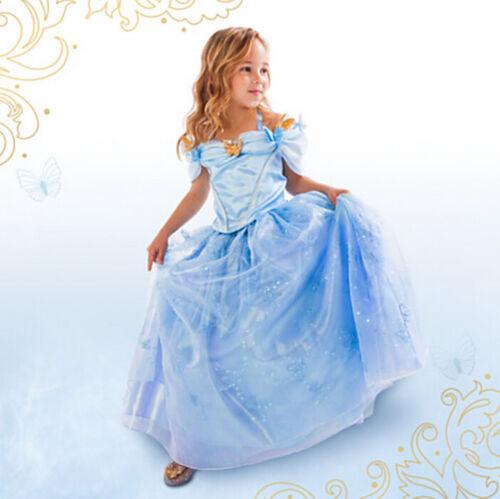 Girls Cinderella Dress Party Fancy Dress Blue gown children/'s kids