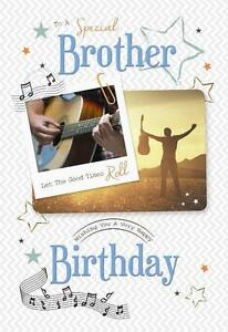 Details About Special Brother Guitar Let The Good Times Roll Music Design Happy Birthday Card
