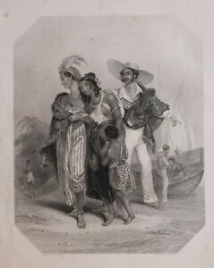1837-PRINT-AFRICA-FINDENS-TABLEAUX-NATIONAL-CHARACTER-amp-COSTUME