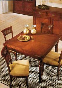 Tavolo quadrato in legno massello di ciliegio allungabile in vari colori ebay - Tavolo quadrato allungabile legno massello ...