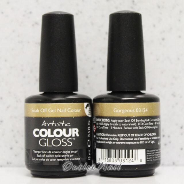 Artistic Nail Design >> PART C Colour Gloss Soak Off Gel Colour - SHIP IN 24H