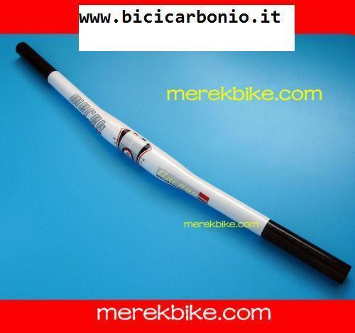Manubrio piega handlebar mtb 25,4x585mm bianco 125gr