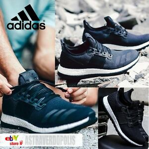 6ee22621c321 Image is loading ADIDAS-PURE-BOOST-ULTRA-MENS-BLACK-PRIMEKNIT-SHOES-