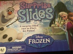 New Walt Disney Frozen Board Game Surprise Slides Elsa Ice Palace