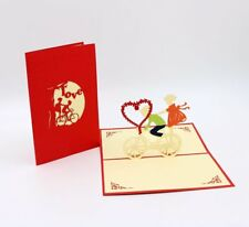 Item 3 Romantic 3D Pop Up Greeting Card Lovers Riding Birthday Valentines Gift For Her