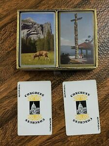 Congress Playing Cards Double Deck Complete With Slide Case Deer