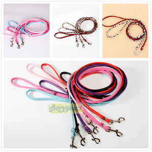 New-11-Colors-Dog-Cat-Leash-Lead-Leather-Walking-Soft-Chic-Firm-Comfortable