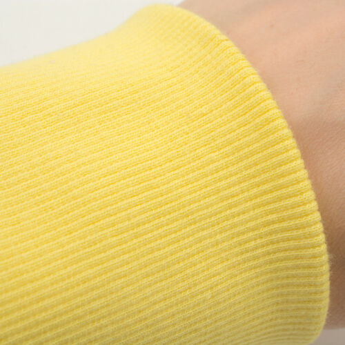 100/% Cotton Stretch Knit Long Johns Leg Arms Sweater Cuff Rib Trim Ribbed Fabric