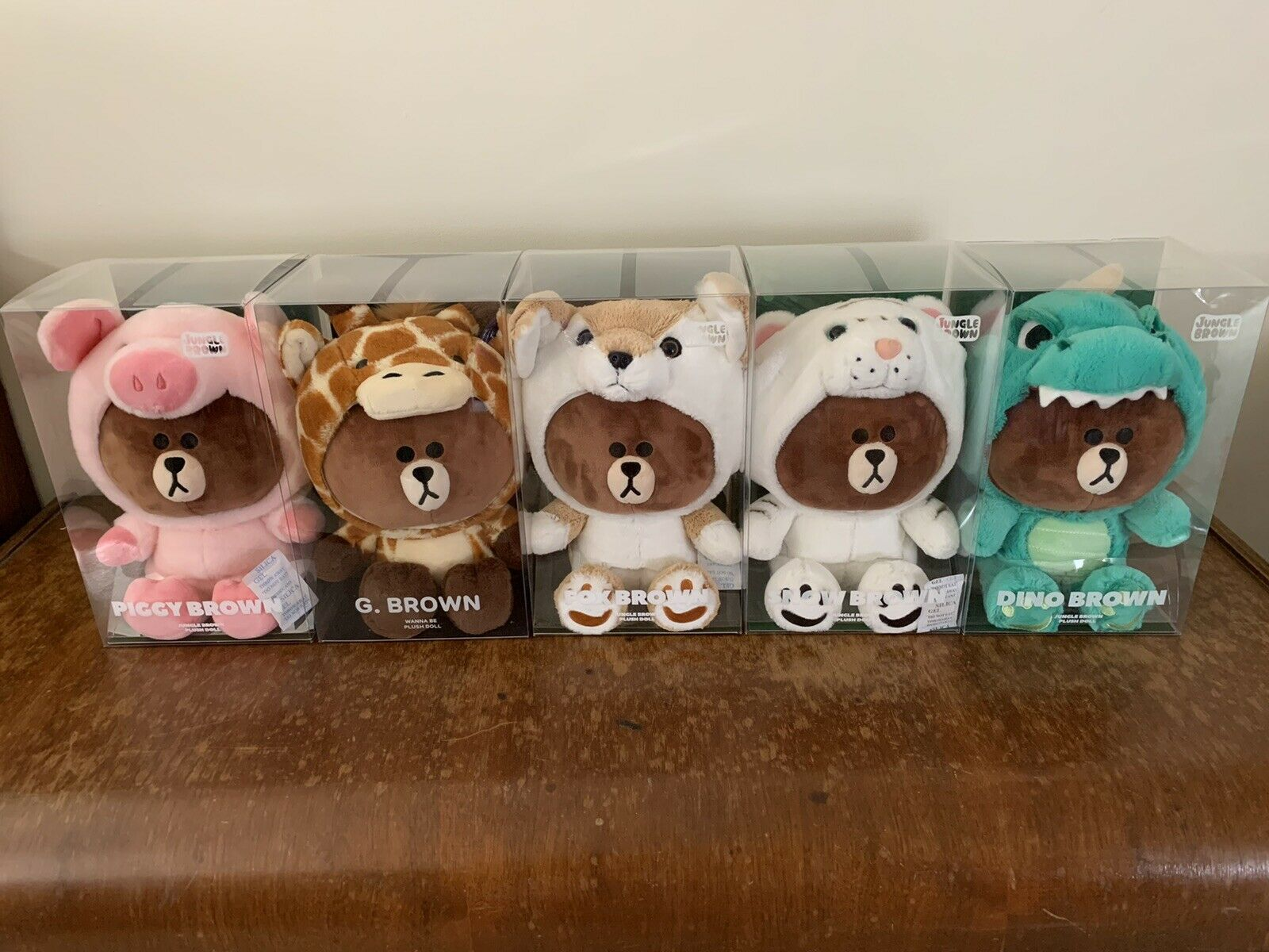 Character Plush Doll  COMPLETE SET     25cm