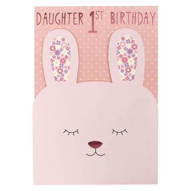 Hallmark 1st Birthday Card For Daughter Somebunny Special Medium