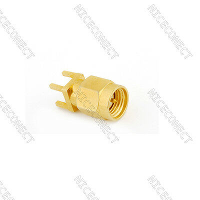 15pcs SMA female jack thru hole vertical PCB Mount straight RF connector adapter
