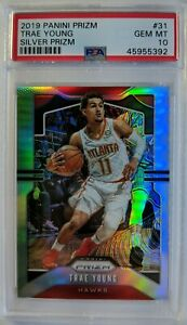2019-20-Panini-Prizm-Silver-Trae-Young-31-Refractor-Graded-PSA-10-Pop-15