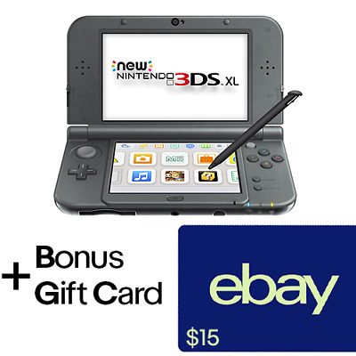 New Nintendo 3DS XL (New Black) - REFURBISHED + $15 eBay Gift Card