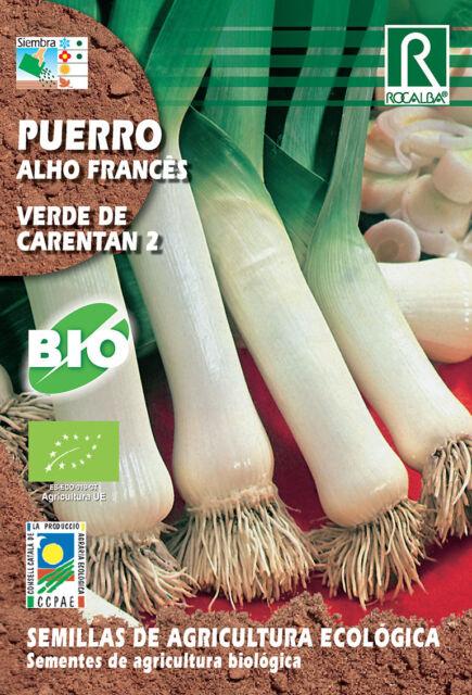 Semillas ECOLOGICAS Puerro Verde de Carentan II , Sobre 3 gr.