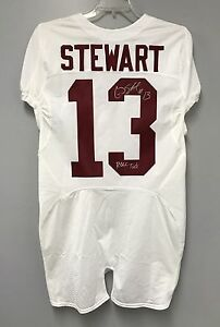 competitive price 9bbb4 de61e Details about Ardarius Stewart SIGNED Alabama Authentic Football Jersey  PHOTO PROOF COA Jets