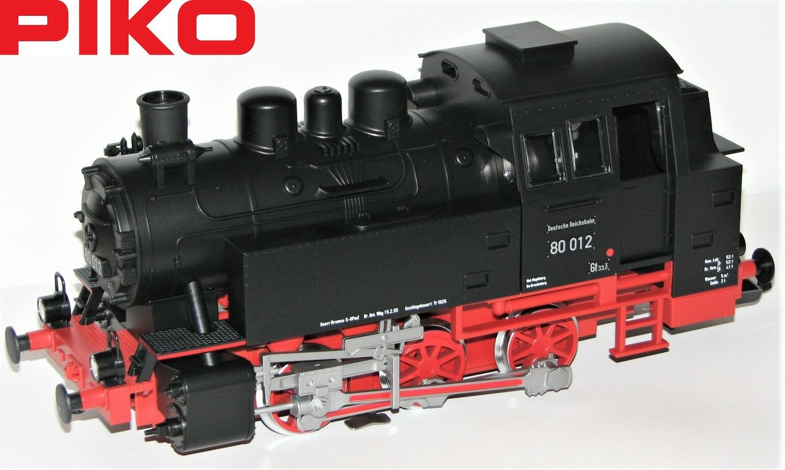 Piko G Steam Locomotive BR 80 012 the Dr  Sound + steam  - NEW