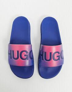 hugo boss pink sliders