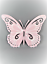 Butterfly Large Metal Pastel Colour Butterfly Wall Art