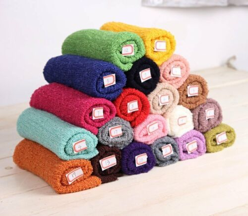 Newborn Baby Photography Props Blanket Rayon Stretch Knit Wraps 40*150cm LOT TQ