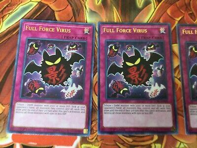 3x Full Force Virus 1st Edition Ultra Rare LCKC-EN049 Yu-Gi-Oh!