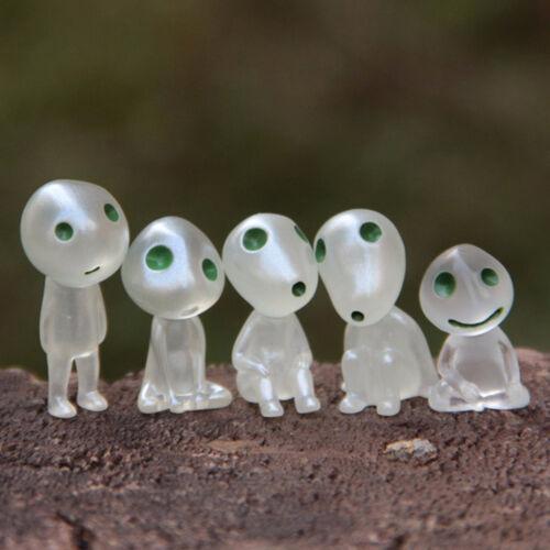 1x Princess Mononoke Luminous Tree Elves Doll Ornament Micro Landscape Bonsai UK