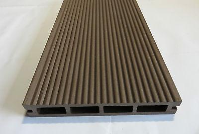 30m² WPC Terrassendielen Komplettbausatz Braun Komplett 1.WAHL Dielen Holz Set