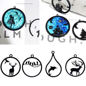 10Pcs-Acrilico-Animale-FAI-DA-TE-TELAIO-Aperto-Ciondolo-Lunetta-Impostazione-UV-gioielli-in-resina
